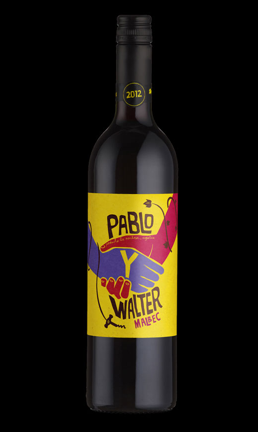 Pablo label design by Biles Hendry