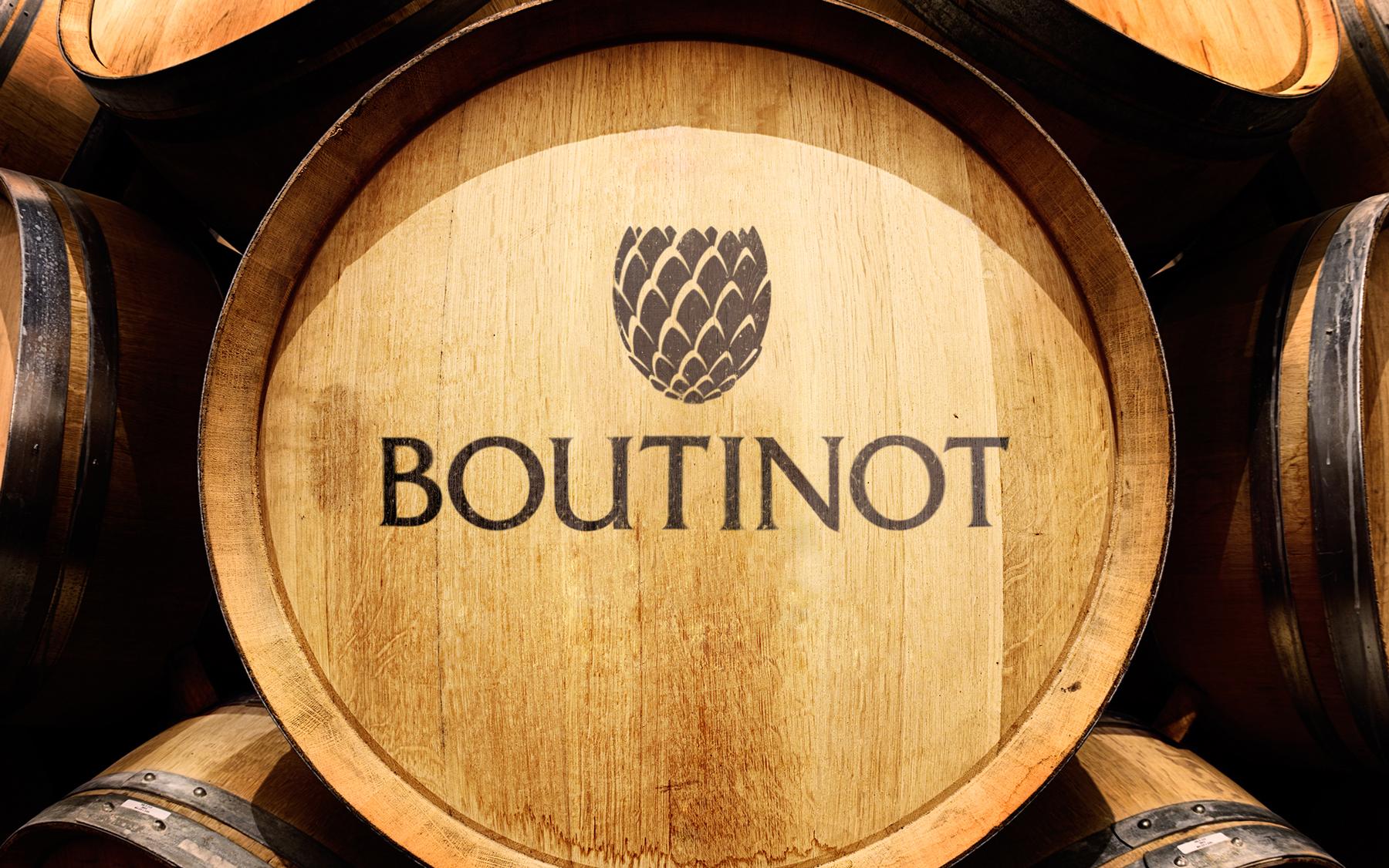 Lifestyle shot featuring Boutinot logo design