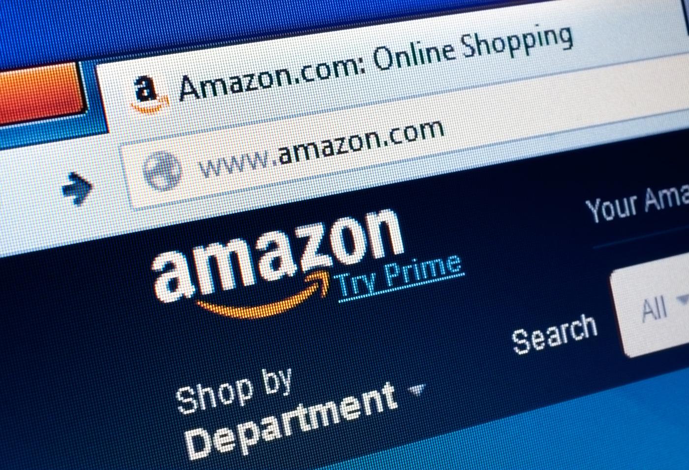 Example of Amazon website