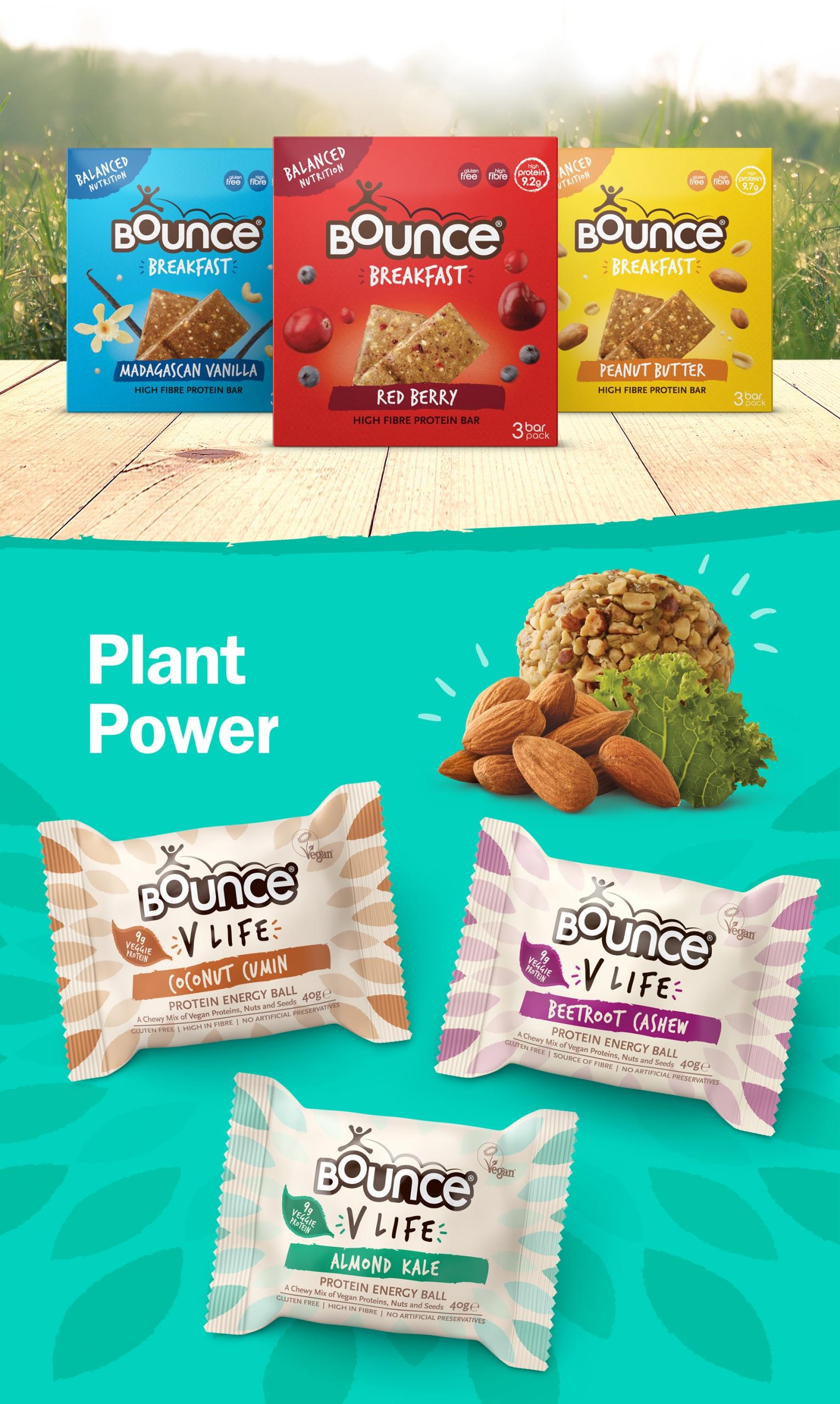 V life product range shot branded by Biles Hendry