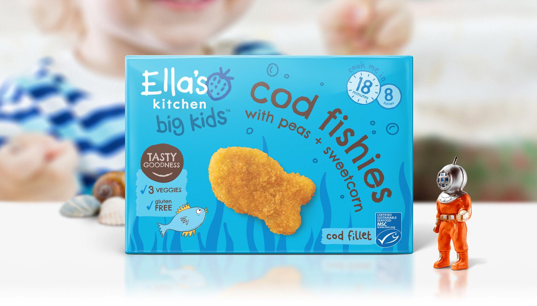 Ella's Kitchen Brand identity big kitchen pack shot designed by Biles Hendry