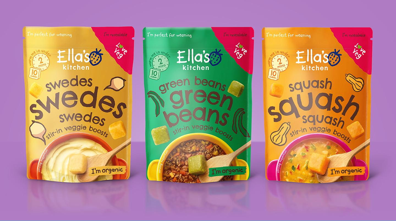 creative packaging design for Ella's Kitchen