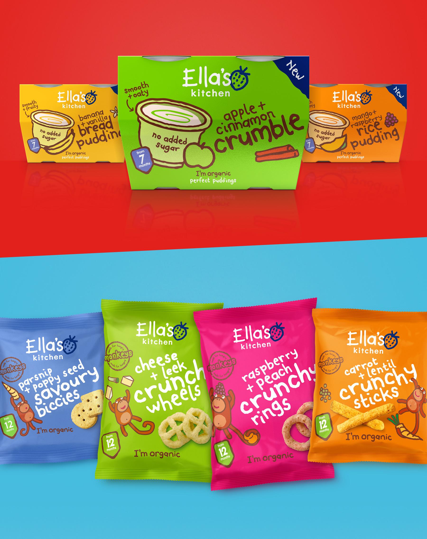 Ella's Kitchen snack packaging design