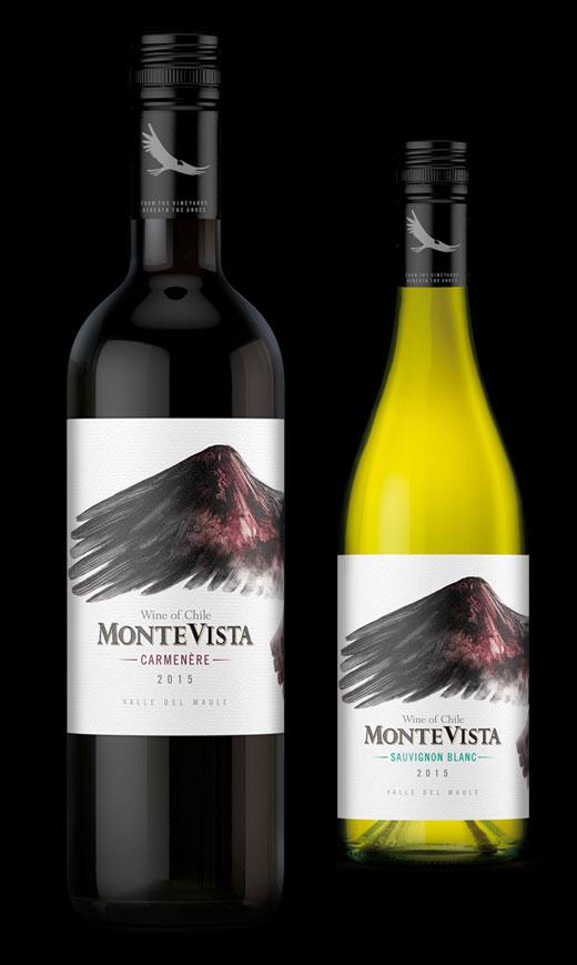 Montevista label design by Biles Hendry