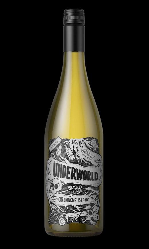 Underworld label design by Biles Hendry