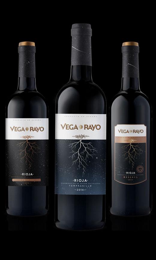 Vega label design by Biles Hendry