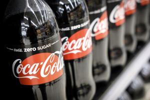 Coke Zero Bottles on Shelf